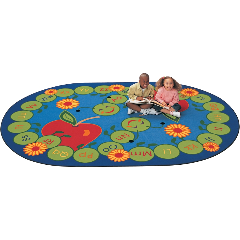 ABC Caterpillar Oval Rug, Carpets For Kids, Free Shipping