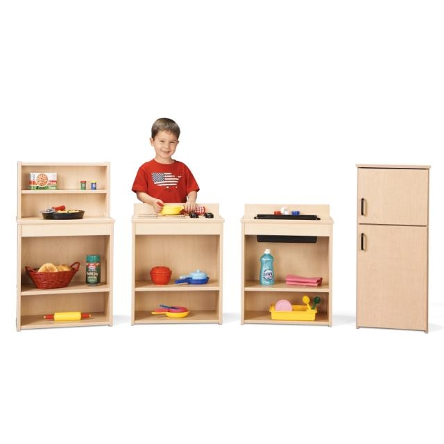 young time furniture wooden play kitchen set 7080yt441