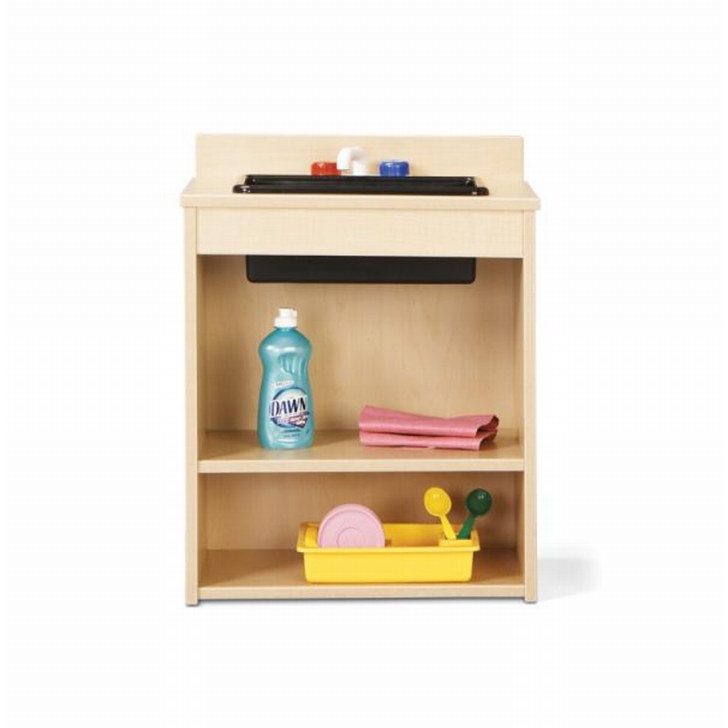 Young Time Furniture, Wooden Play Kitchen Sink, 7082YR441, Apple ...