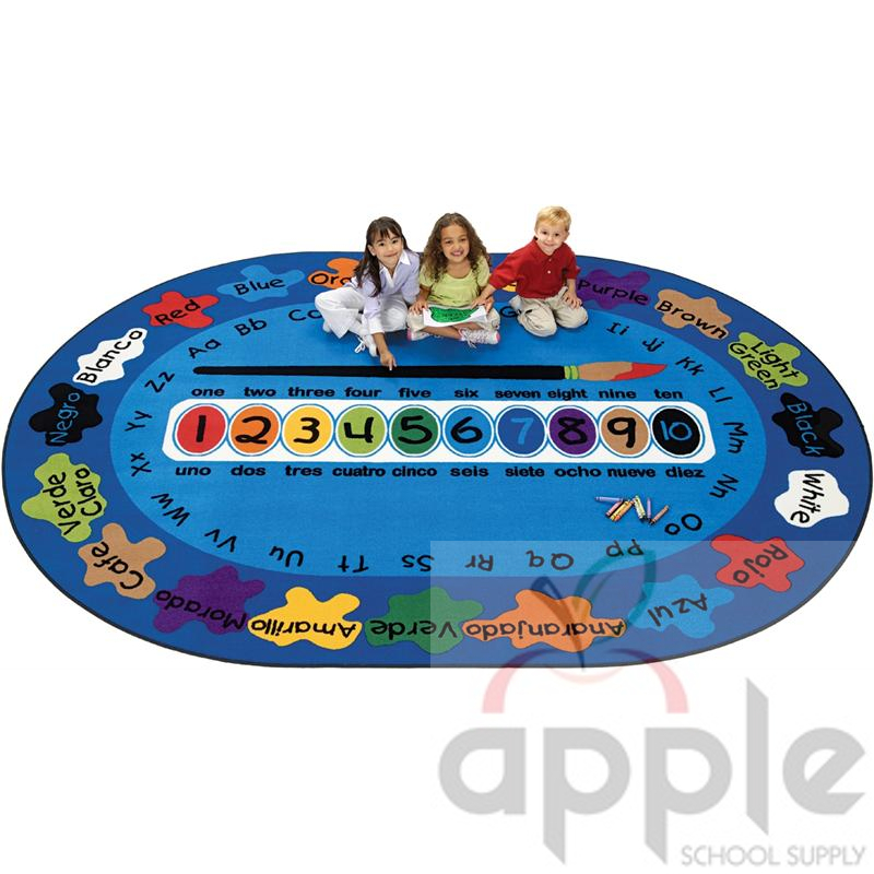 Bilingual Paint By Numero Oval Rug, Carpets For Kids, Free