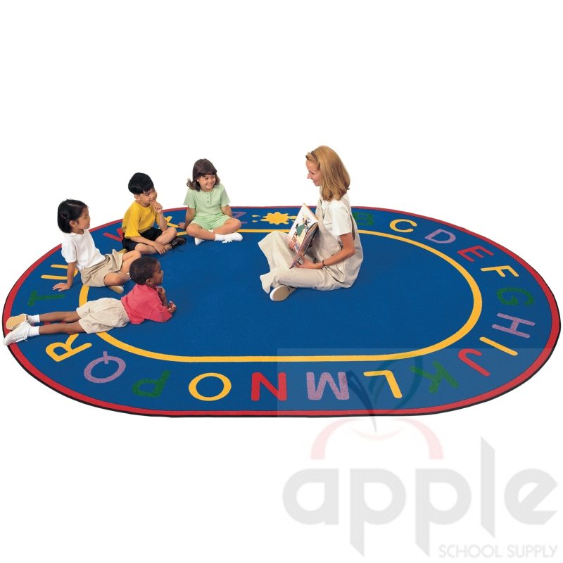 Carpets For Classrooms For Toddlers: Alpha Oval Rug, Carpets For Kids, Free Shipping