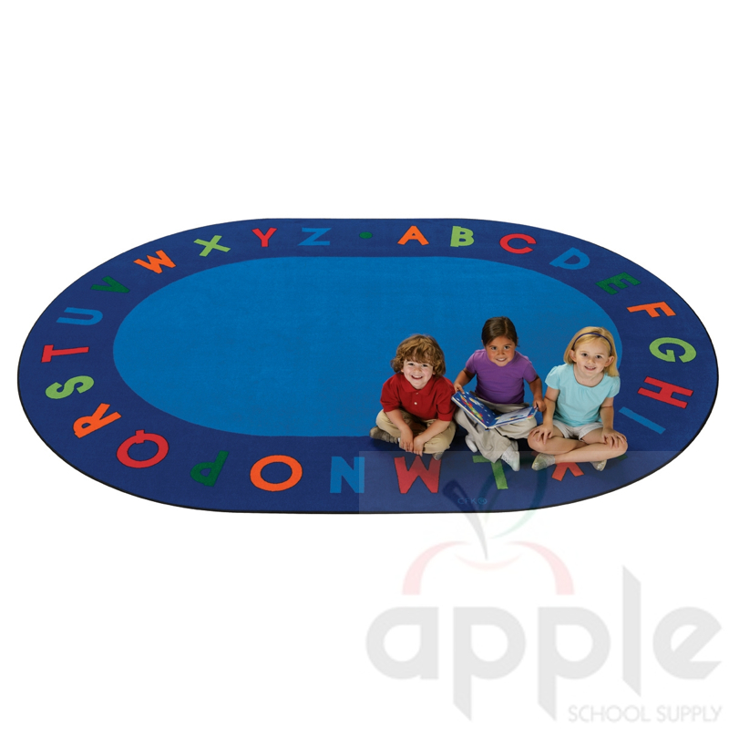 Alphabet Circletime Oval Rug, Carpets For Kids, Free Shipping