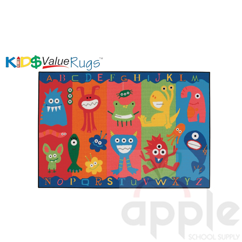 Small Abc Rug: Alphabet Monsters Rectangle Rug, Carpets For Kids, Free