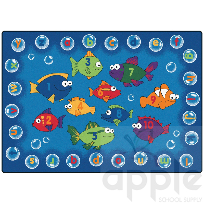 Small Abc Rug: Fishing For Literacy Rectangle Rug, Carpets For Kids, Free