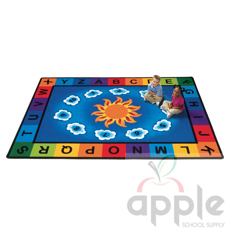 Classroom Rug: Sunny Day Rectangle Rug, Carpets For Kids, Free Shipping