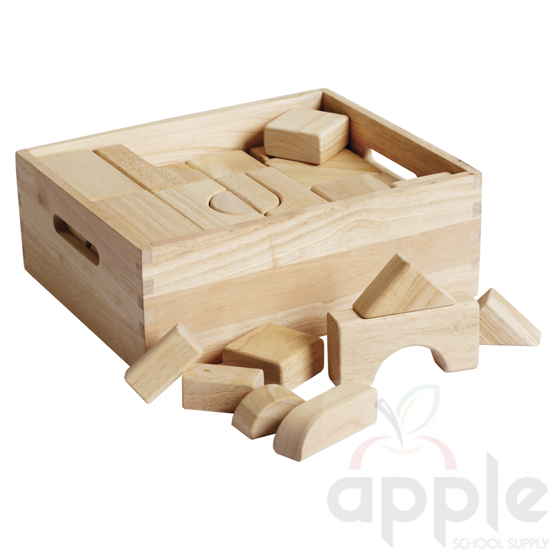 ECR4Kids Hardwood Unit Building Blocks Set - 64 Pieces ELR-19001 ...