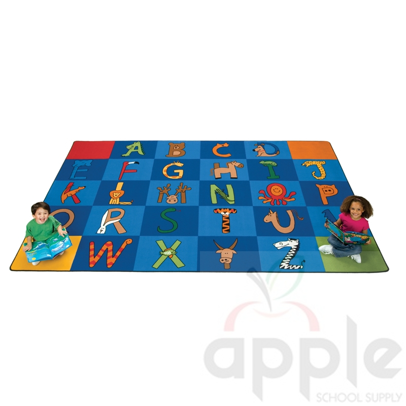 A To Z Animals Rectangle Rug Carpets For Kids Free