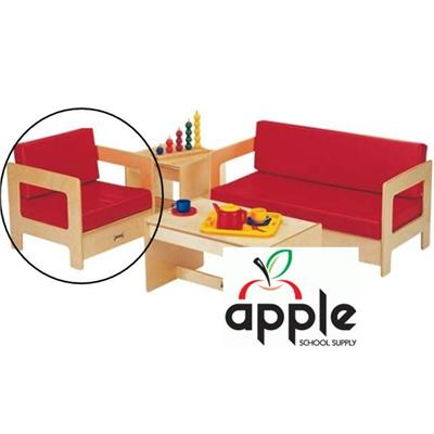 Living Room  on Kids Red Easy Chair  Kids Living Room Set  0376jc  Apple School Supply