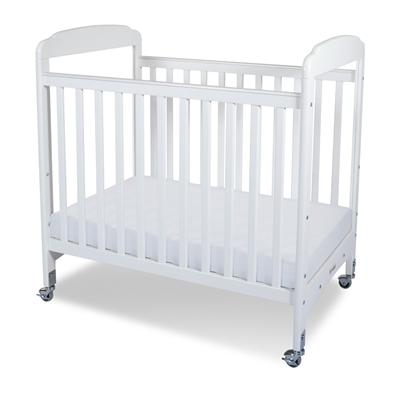 Serenity Compact Fixed-Side Crib - White Clearview 1732120