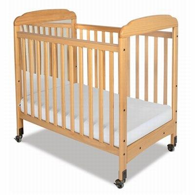 Serenity Compact Fixed-Side Crib Mirrored (Natural) 1733040