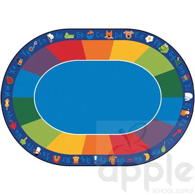Fun with Phonics Oval Seating Rug - Carpets for Kids
