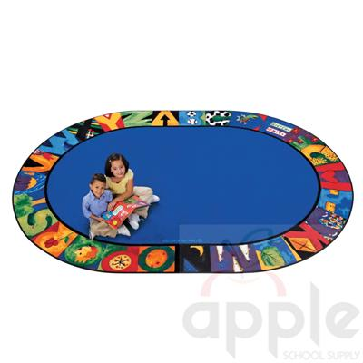 Hide n' Seek ABC Oval Rug - Carpets for Kids - Free Shipping
