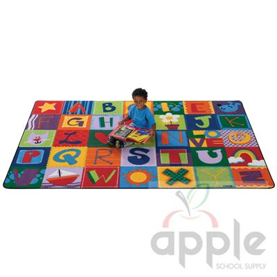 Toddler Alphabet Blocks - Rectangle Rug - Carpets for Kids