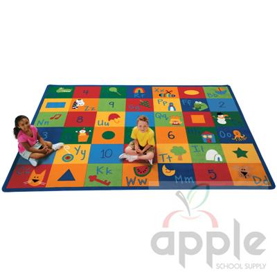 Learning Blocks Rectangle Rug - Carpets for Kids