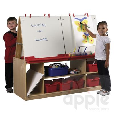 ECR4Kids 4 Station Art Easel with Storage  ELR-0692