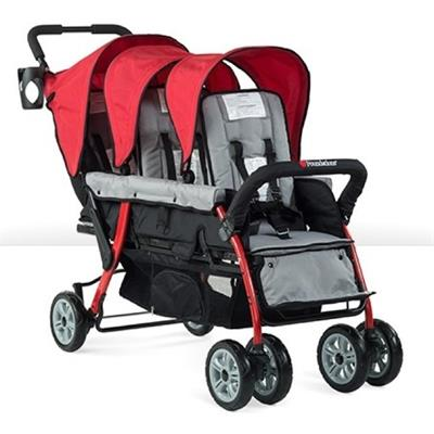 Foundations Sport 3-Passenger Stroller (Red) 4130079