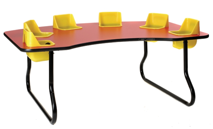 Super sale 6 seat toddler table lowest price guaranteed for Eating table