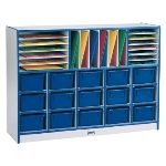 Jonti-Craft RAINBOW ACCENTS SECTIONAL MOBILE CUBBIES