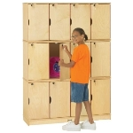 Jonti-Craft 4697JC Stacking Lockable Lockers APPLE SCHOOL SUPPLY