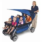 Foundations LX6 6-Passenger Stroller 4160037 w/kids
