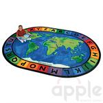 Circletime Around the World Oval Rug - Carpets for