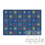 Primary Squares Rectangle Rug - Carpets for Kids - Free Shipping