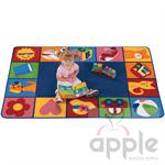 Toddler Blocks Rectangle Rug - Carpets For Kids - Free Shipping