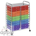 ECR4Kids 20 Drawer Mobile Organizer ELR-011-AS