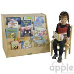 ECR4Kids Birch Book Display with Storage  ELR-0429