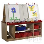 ELR-0692 4 Station Art Easel with Storage ELR-0692 ECR4KIDS