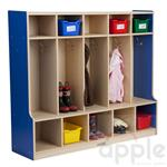 ECR4Kids Colorful Essentials Coat Locker with Bench - Five Sections ELR-0714-XX