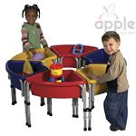 ECR4Kids 6 Station Sand & Water Play Table with Lids  ELR-0796