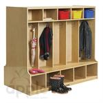 ECR4Kids Coat Locker with Bench - 10 Sections - Double-Sided  ELR-17301