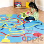 Kalokids Decorative™Color Tubes Circular Carpet MAT087