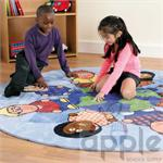 Kalokids Multicultural Nation™Carpet with Pocketed Cube BN0103
