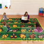 Kalokids Town & Country Zoo Animals Placement Carpet MAT081