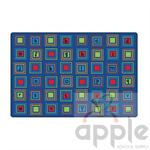 Literacy Squares Primary Rug - Carpets for Kids