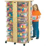 Jonti-Craft Cubbie Tower w/32 Colored Tubs - 0354JC