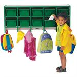 Jonti-Craft Rainbow Accents Coat Lockers - Large Wall Mount (Trays Included)