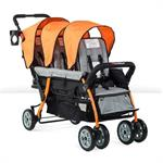 Foundations Sport 3-Passenger Stroller (Orange) 4130309