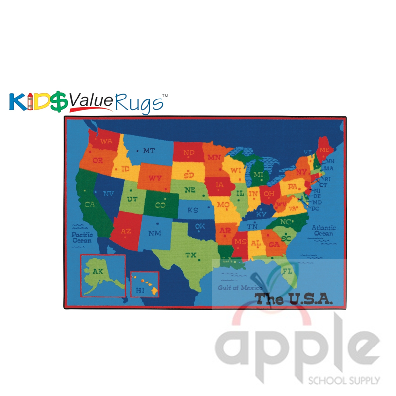 Kids Usa Map.Usa Map Rectangle Rug Carpets For Kids Free Shipping