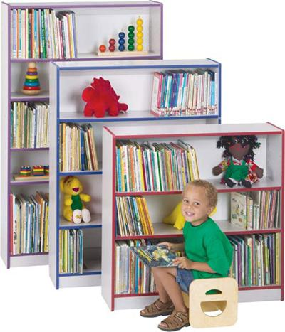 "BOOK CASES - 3 SHELVES 48"" H - Jonti-Craft 0960JC003"