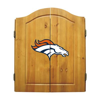 Denver Broncos Dart Cabinet Set - Official NFL Licensed!