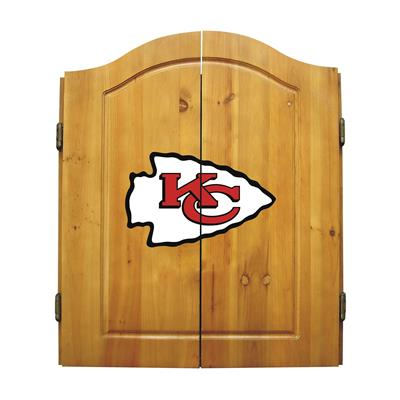 Kansas City Chiefs Dart Cabinet Set - Official NFL Licensed!