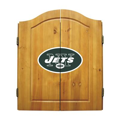 New York Jets Dart Cabinet Set - Official NFL Licensed!
