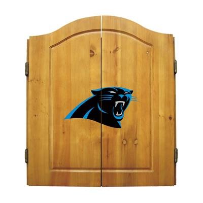 Carolina Panthers Dart Cabinet Set - Official NFL Licensed!