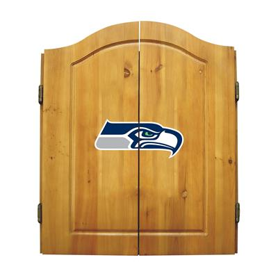 Seattle Seahawks Dart Cabinet Set - Official NFL Licensed!