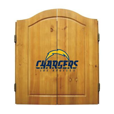 Los Angeles Chargers Dart Cabinet Set - Official NFL Licensed!