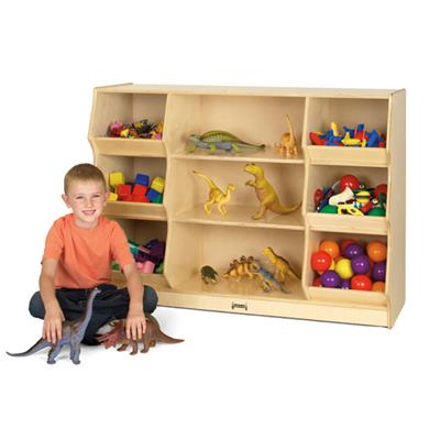 Jonti-Craft Open Storage with Beveled Front