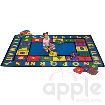 Bilingual Rectangle Rug - Carpets for Kids